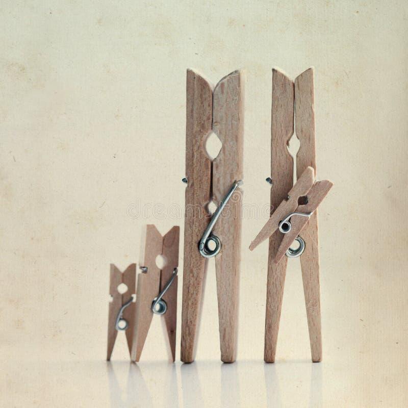Familjen av linneklädnypor vektor illustrationer