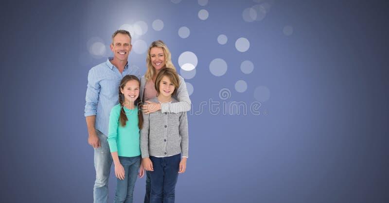 Familjen med mousserar royaltyfria bilder