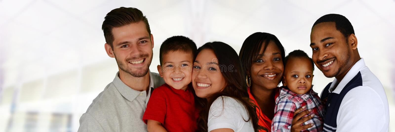 familjer royaltyfri foto