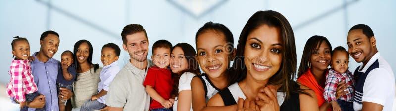 familjer royaltyfria foton