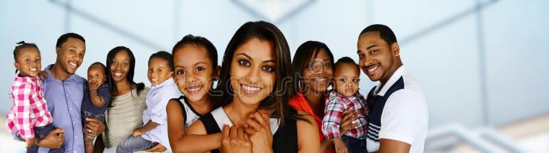 familjer royaltyfri fotografi