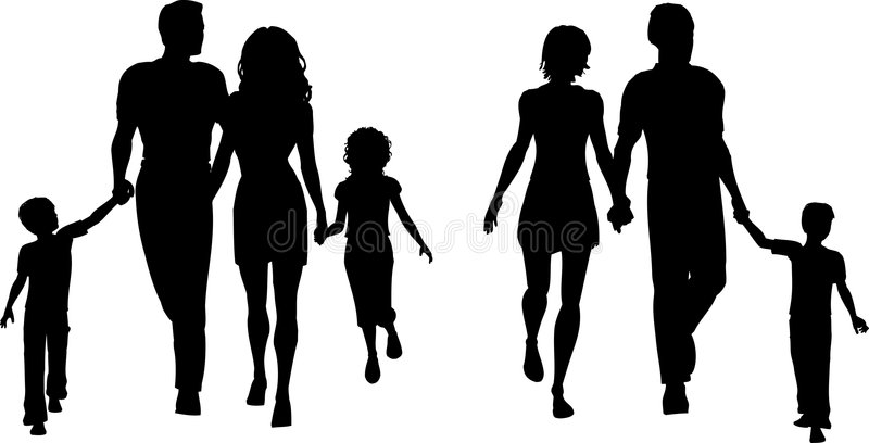 familjer royaltyfri illustrationer