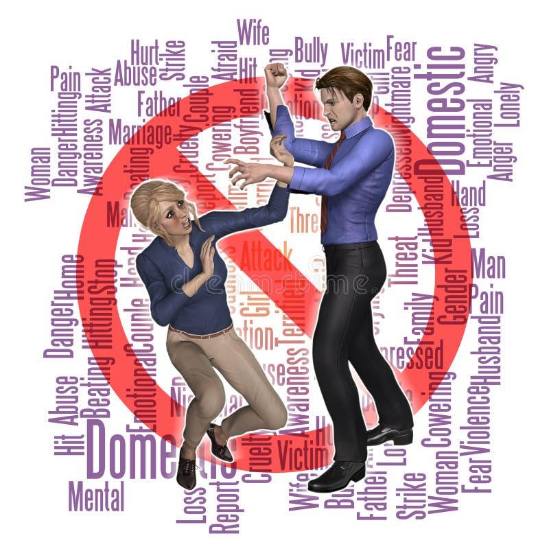 Familjevåldmissbruk stock illustrationer