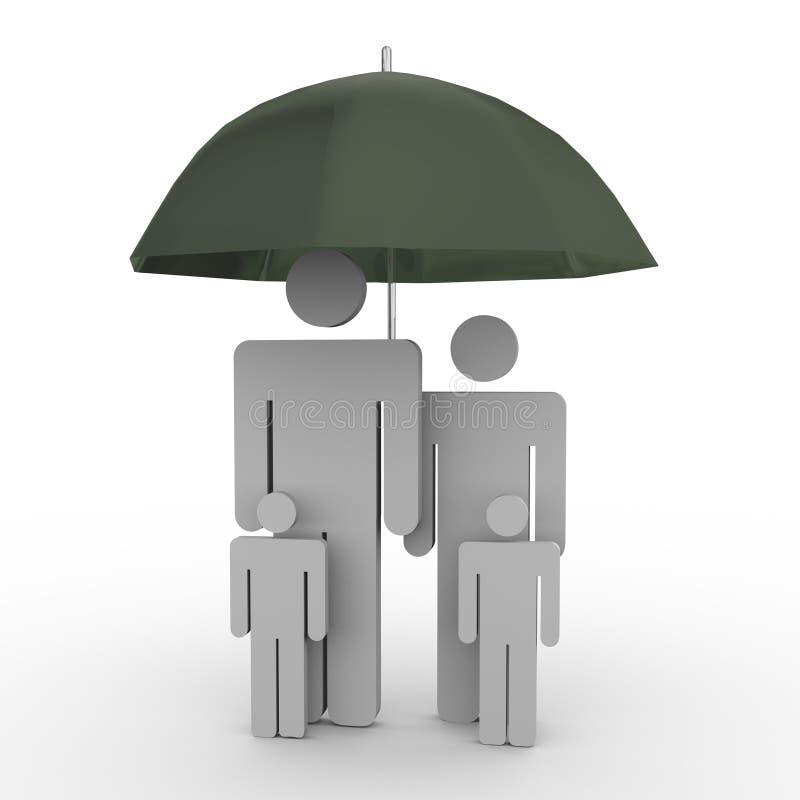 familjförsäkring royaltyfri illustrationer