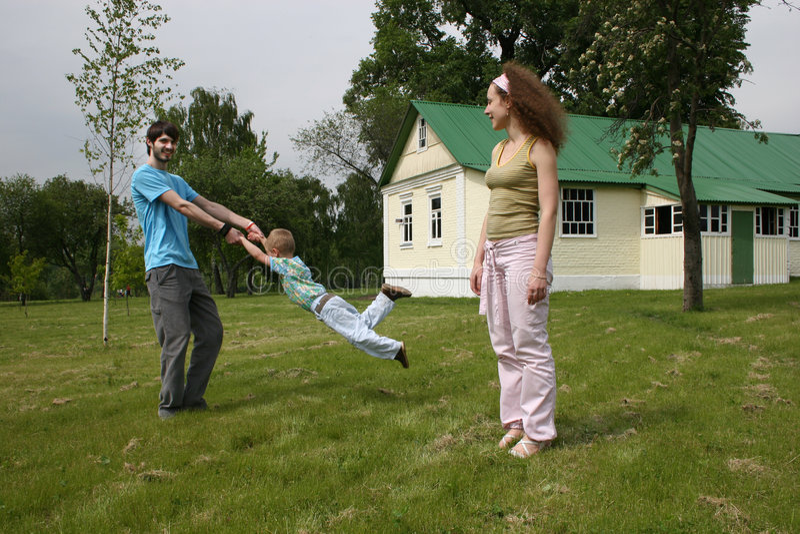 familjgård royaltyfri foto