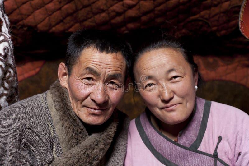 familjger mongolian royaltyfri foto