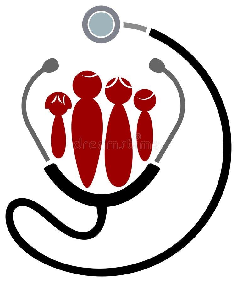 familjhälsa royaltyfri illustrationer