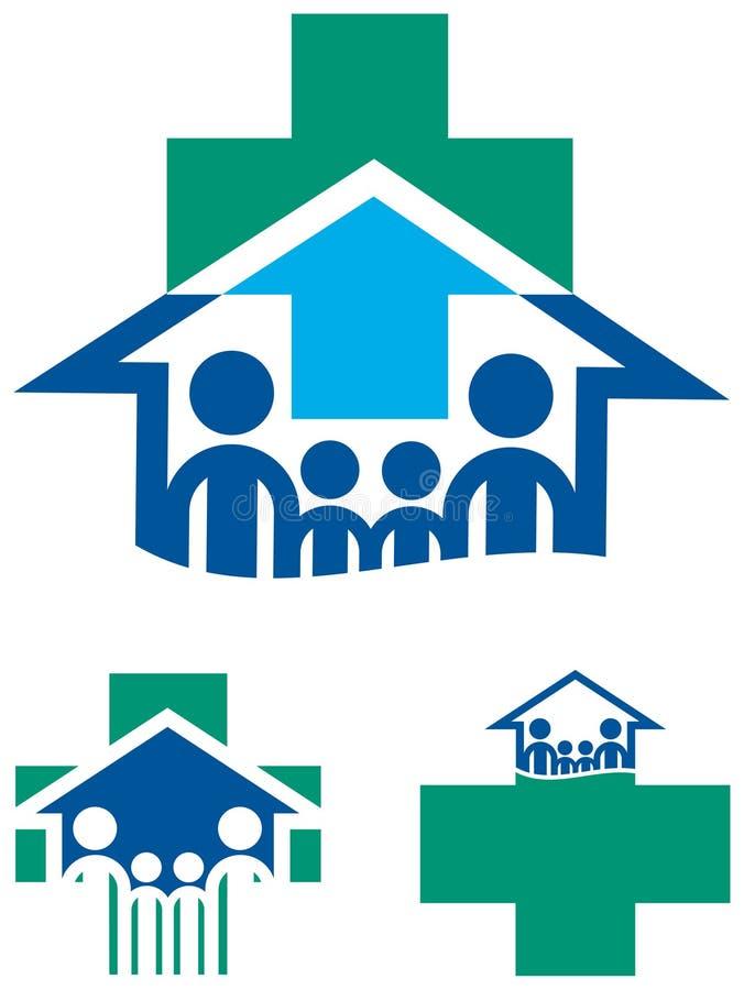 Familjhälsa vektor illustrationer