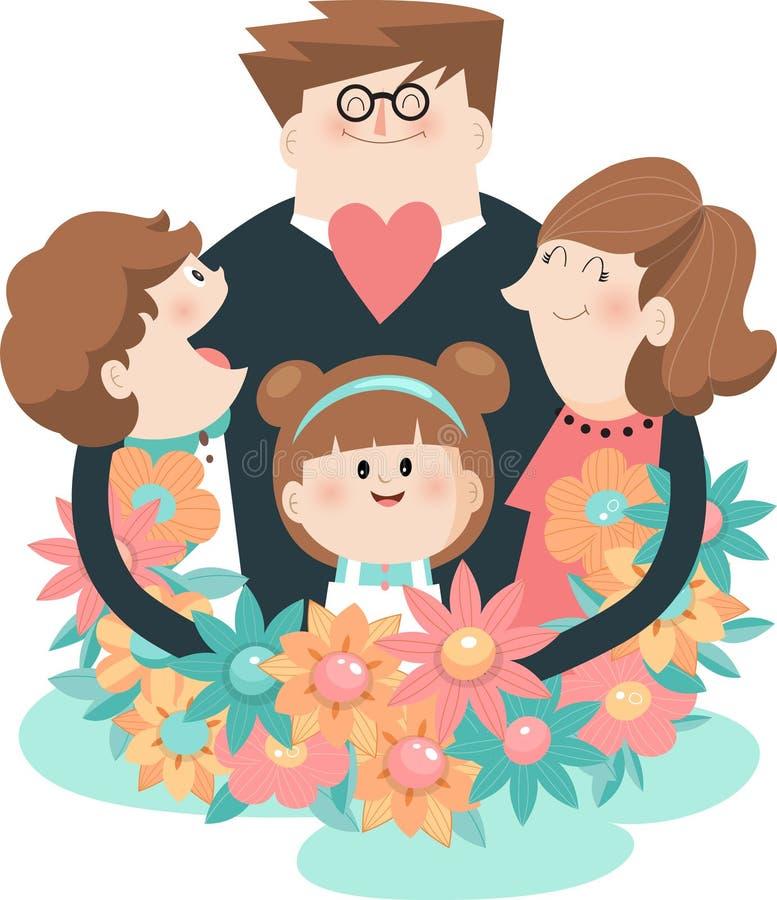 Familjhändelse A vektor illustrationer