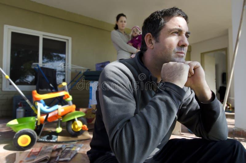 familjhemlösproblem fotografering för bildbyråer