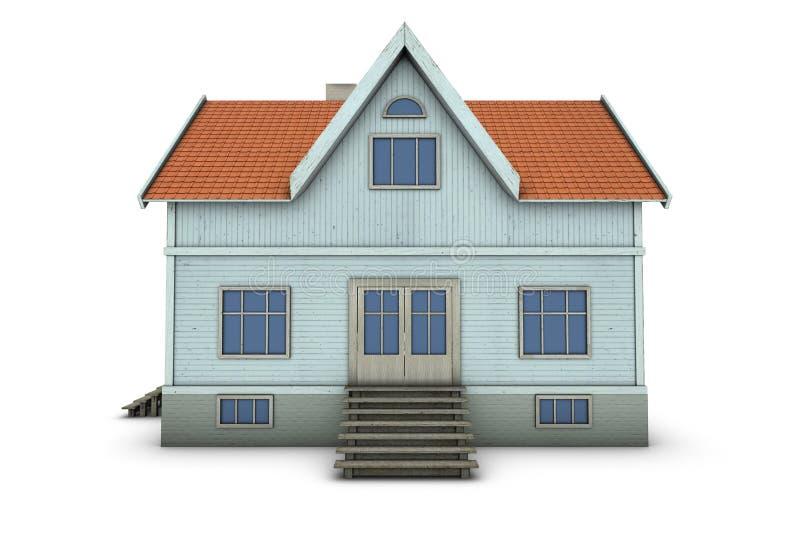familjhus vektor illustrationer