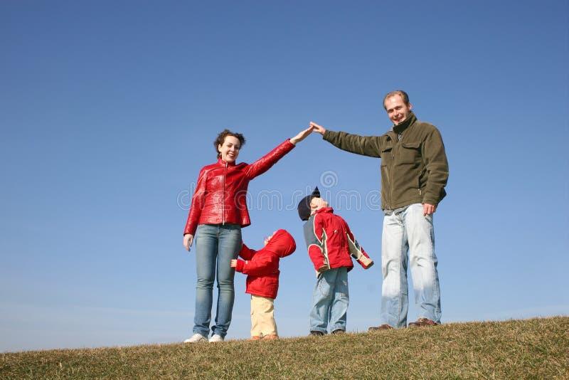familjhus fotografering för bildbyråer