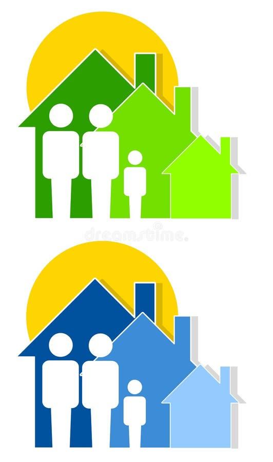 familjhusskydd stock illustrationer