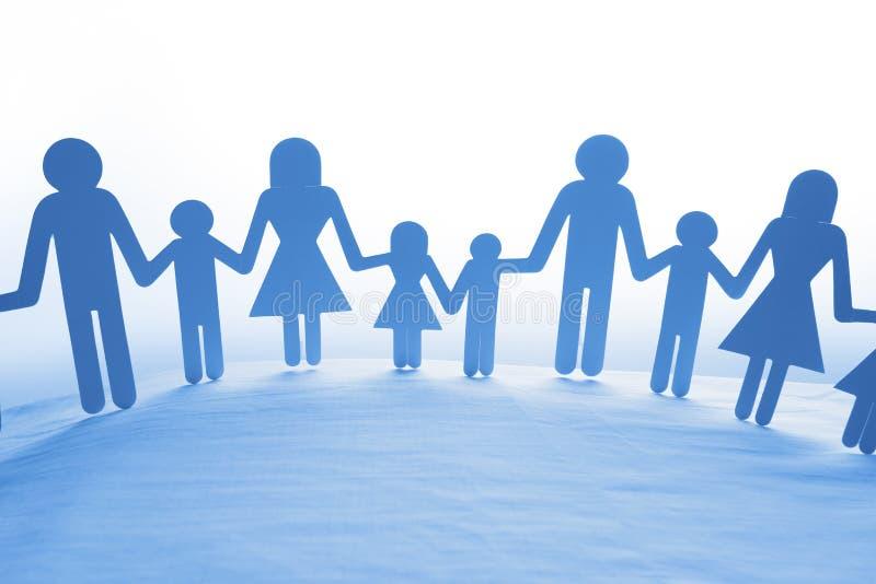 Familjinnehavhänder royaltyfria bilder