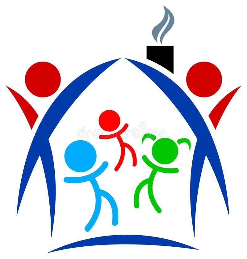 familjlogo vektor illustrationer