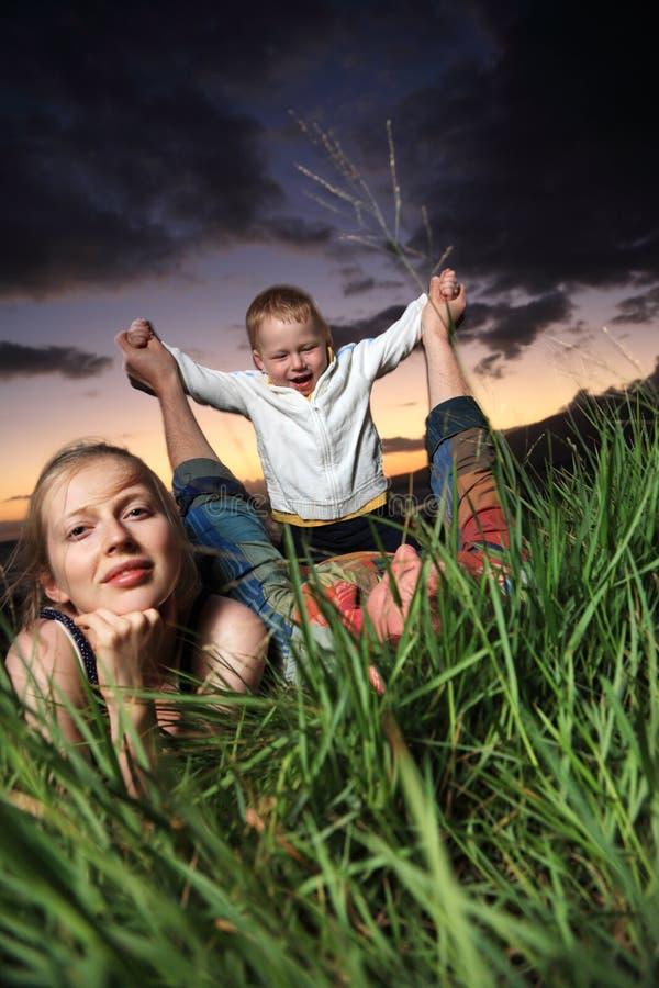 familjnatur arkivfoton