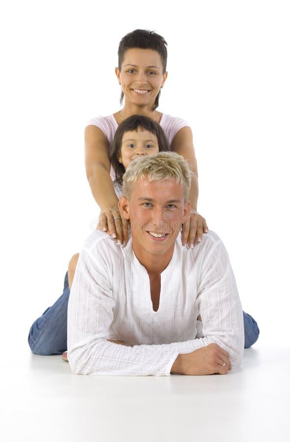 familjpyramid royaltyfri fotografi