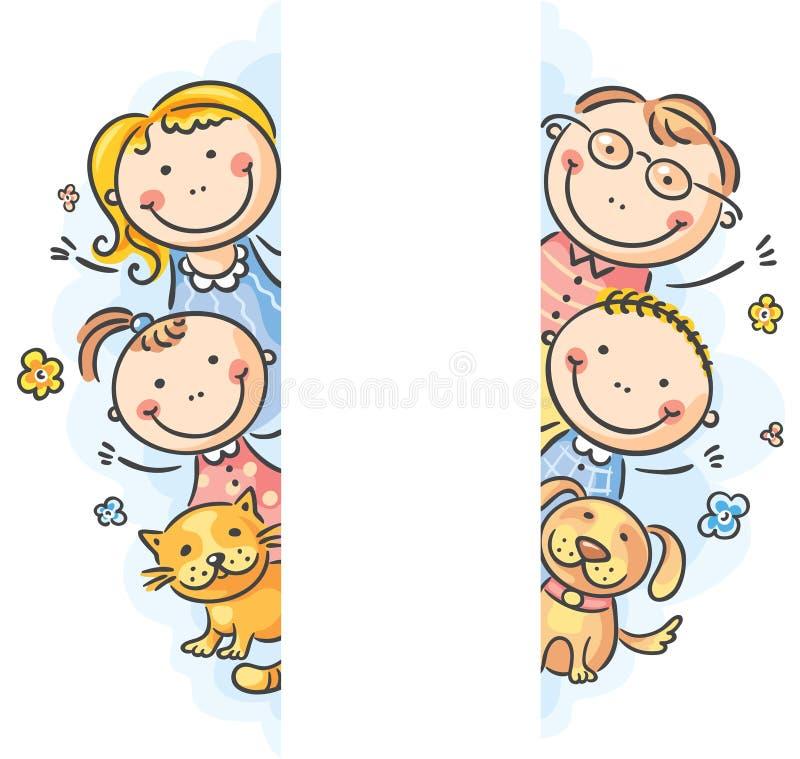 Familjram/gränser stock illustrationer