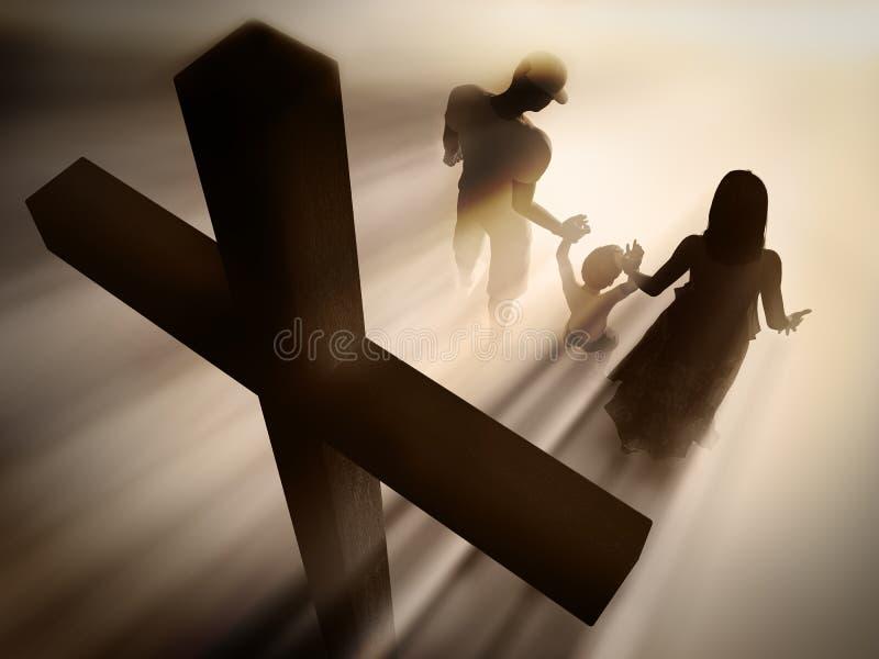 familjreligion vektor illustrationer