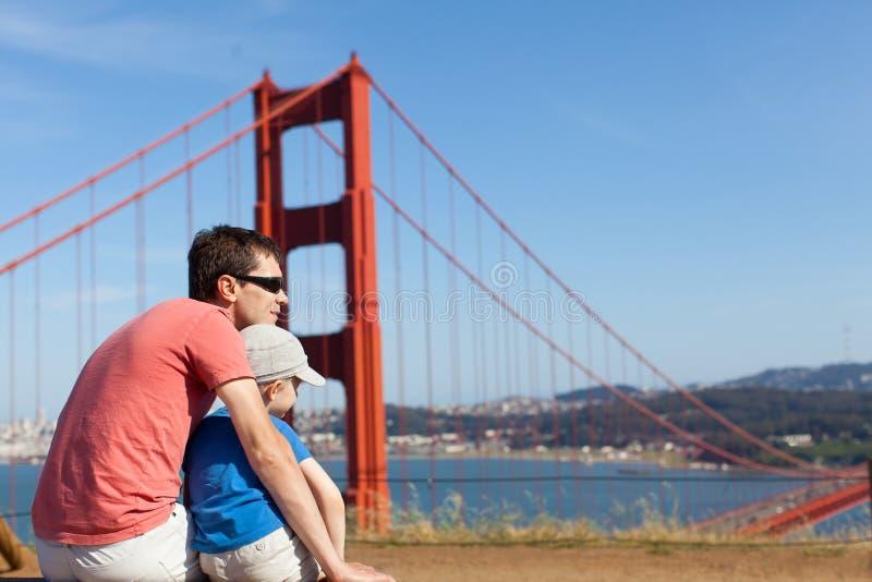 Familjresande i Kalifornien royaltyfri bild