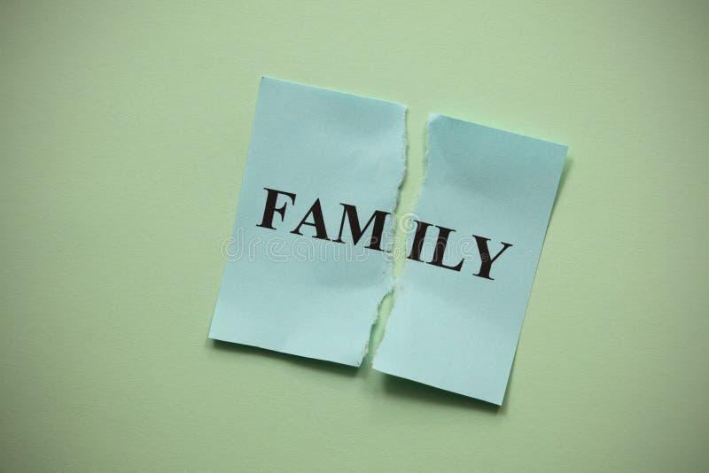 Familjsammanbrott royaltyfri foto
