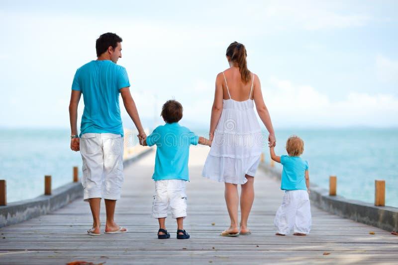 familjsemester royaltyfria bilder
