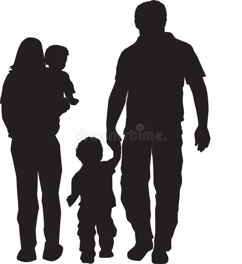 familjsilhouette vektor illustrationer