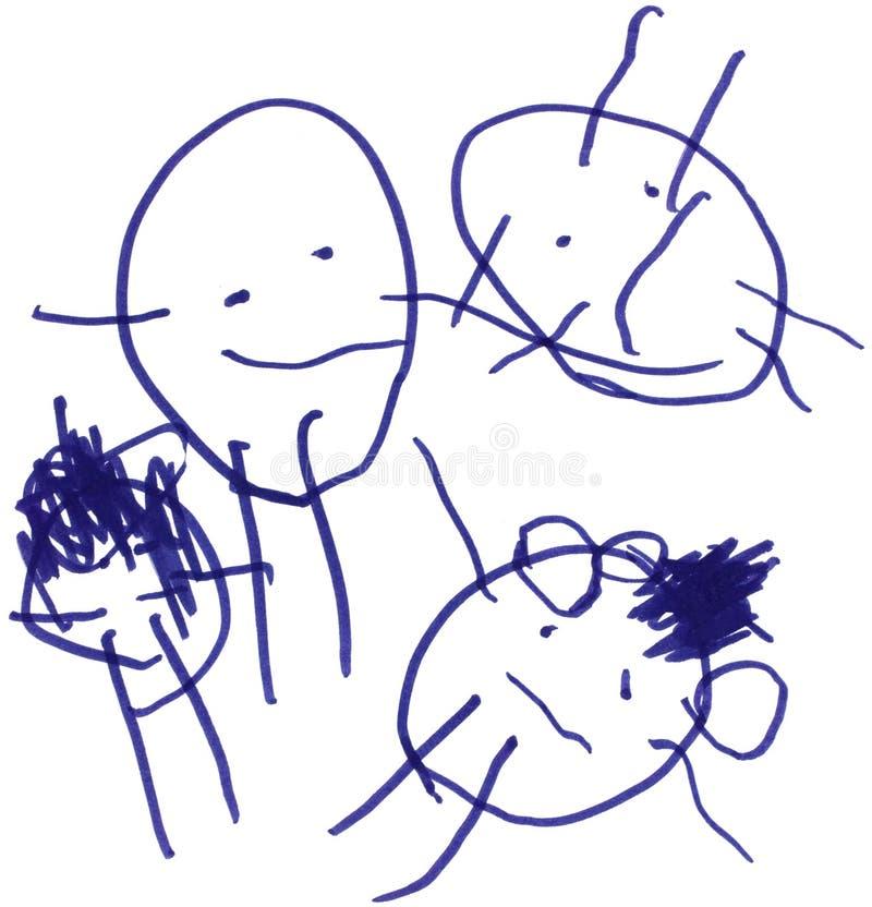 familjstående vektor illustrationer