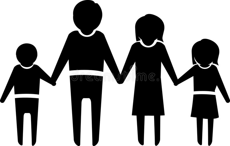 familjsymbol stock illustrationer
