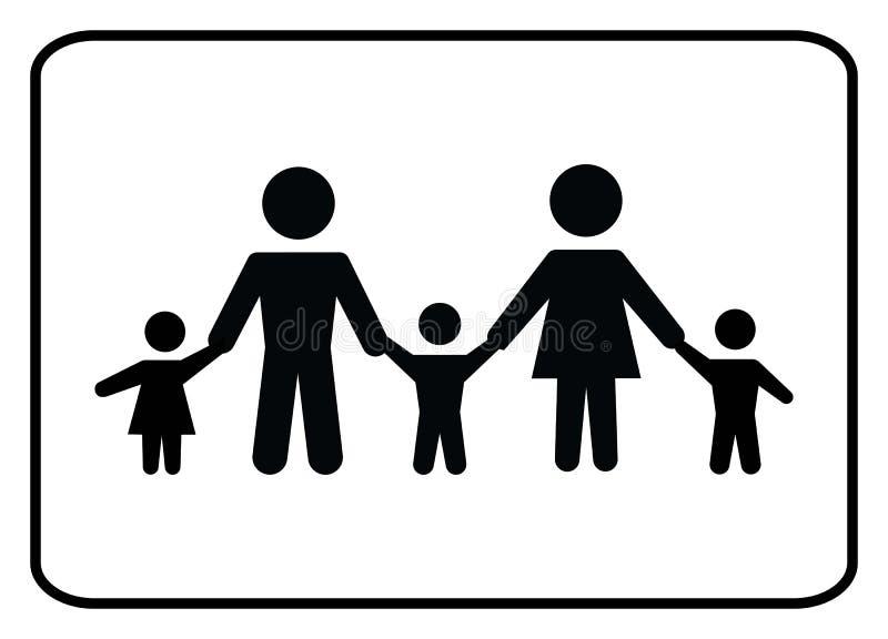 Familjsymbol-vektor vektor illustrationer