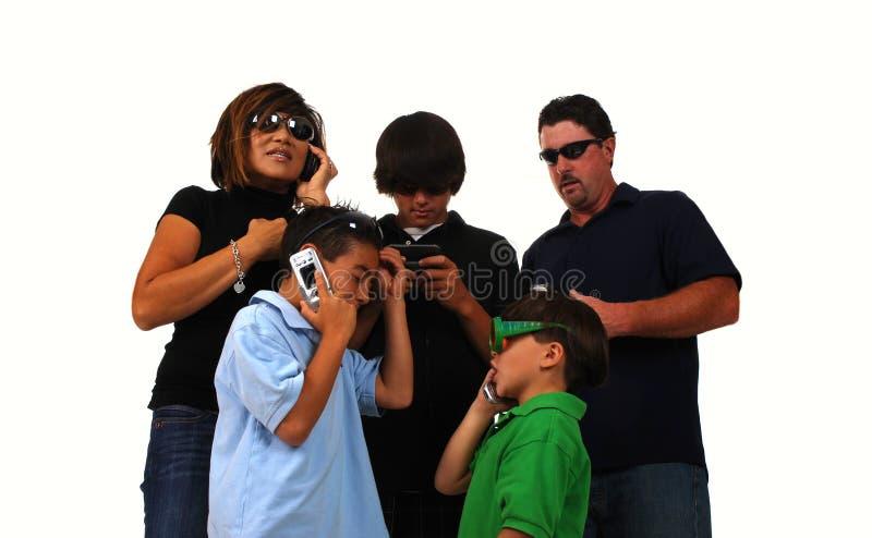 familjtelefon arkivbilder