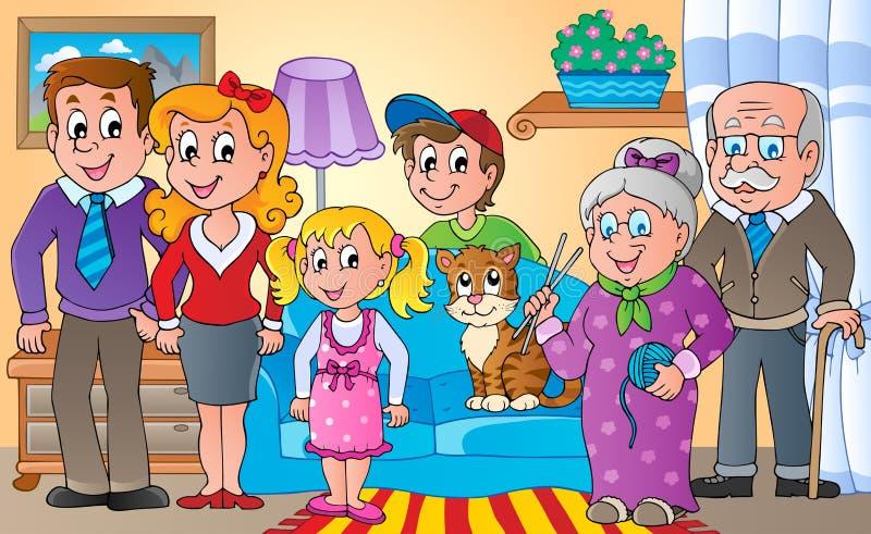 Familjtemabild   vektor illustrationer