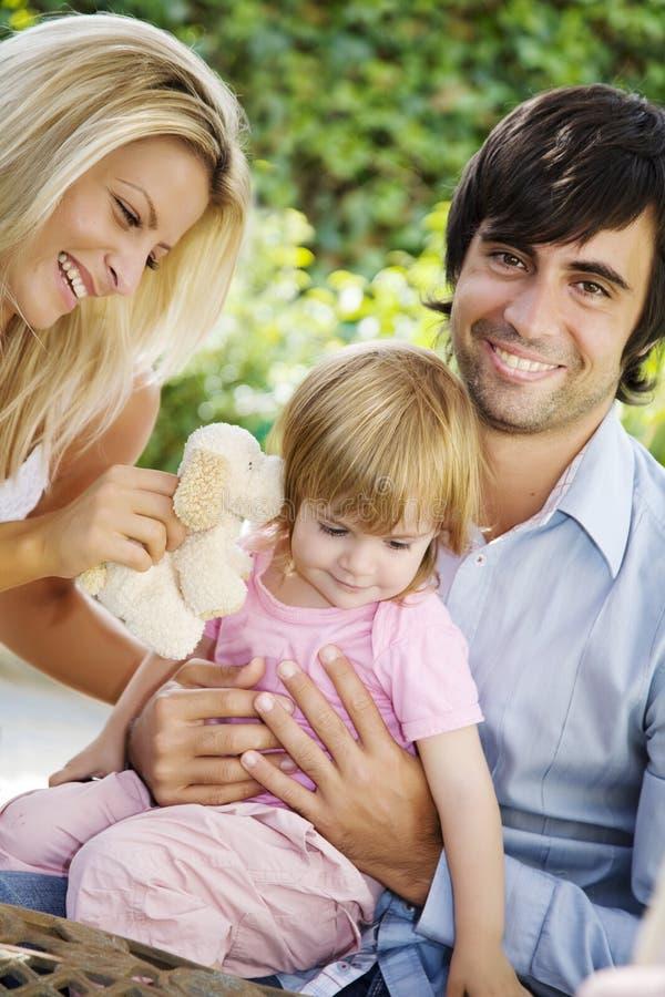 familjträdgård arkivfoto