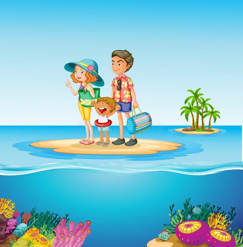Download Familjtur till havet vektor illustrationer. Illustration av destination - 78732348
