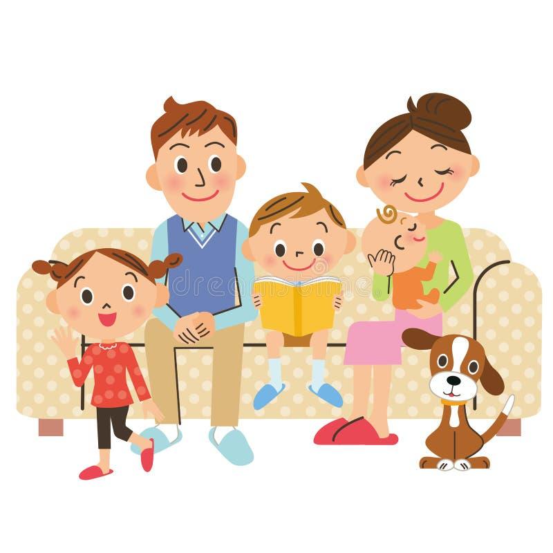 Familjuppehälle royaltyfri illustrationer
