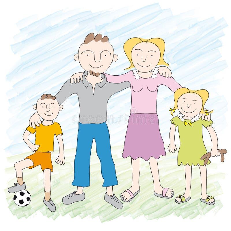 familjvektor vektor illustrationer
