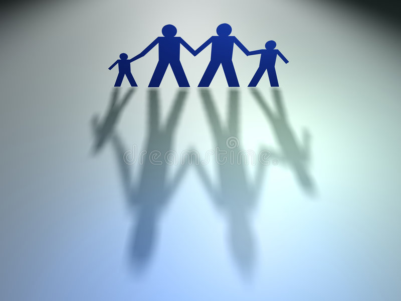 Famille 1 de gens illustration stock