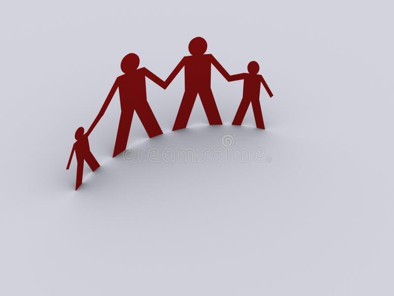 Famille 3 illustration libre de droits