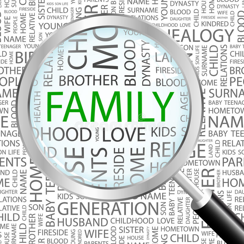 FAMILLE. illustration stock