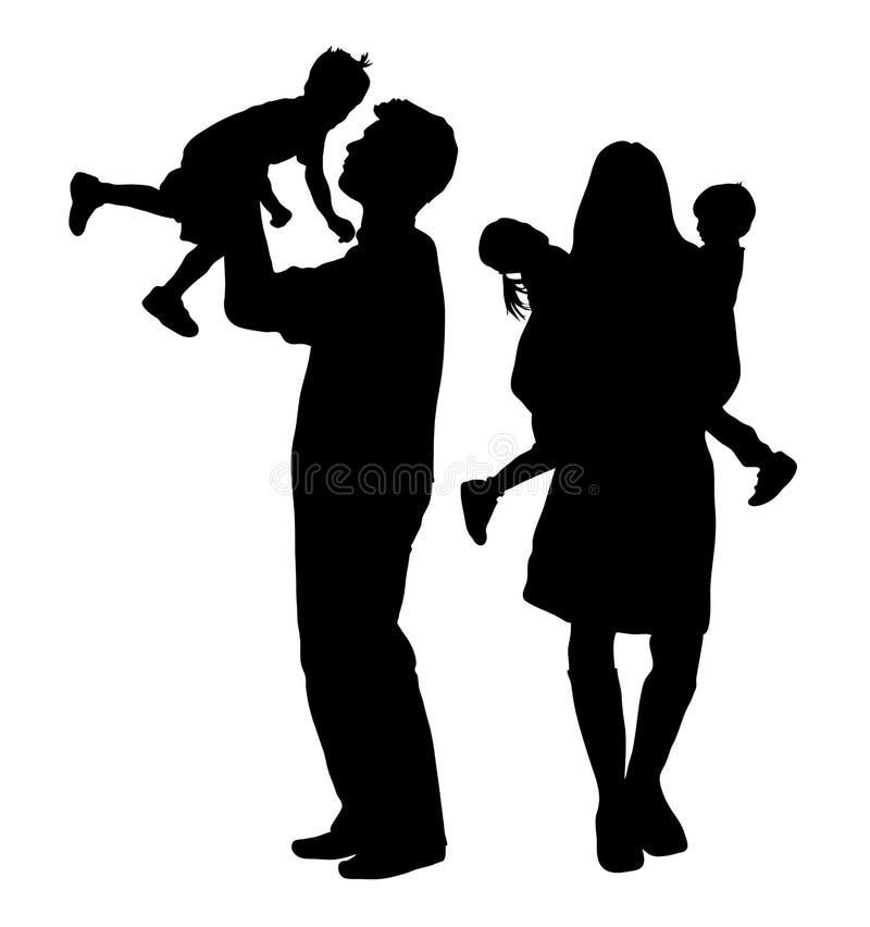 Famille 4 illustration stock