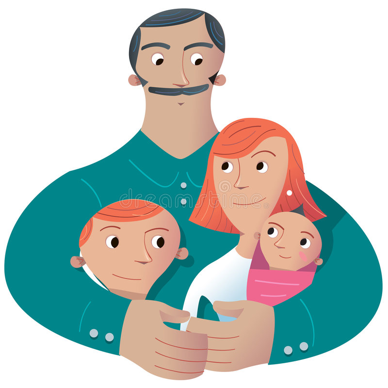 Download Famille illustration stock. Illustration du mexicain, inquiéter - 8671675