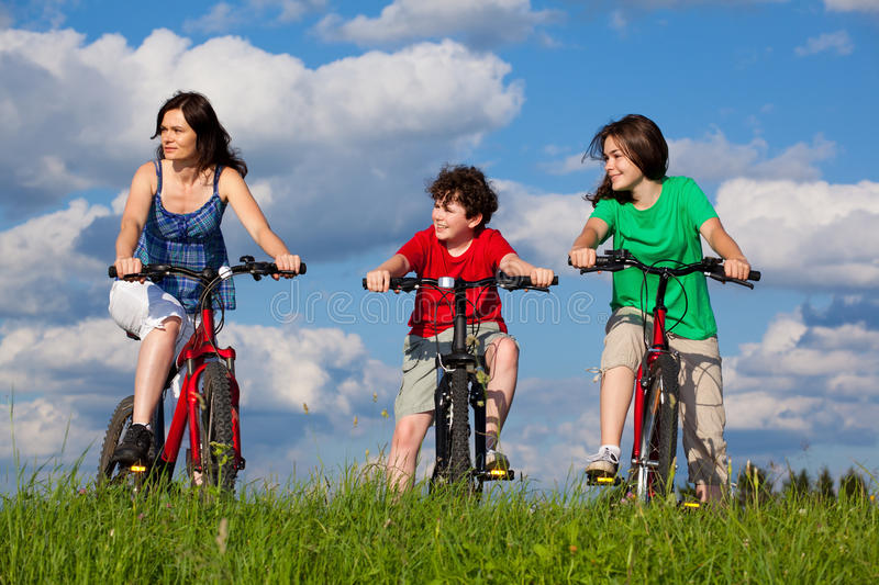 Famille actif photographie stock