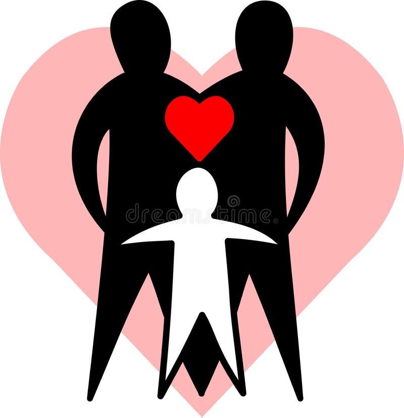 Famille affectueuse/ENV illustration de vecteur