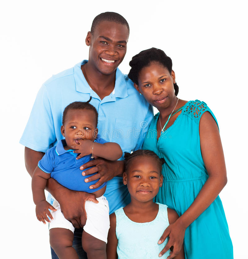 Famille africaine images stock