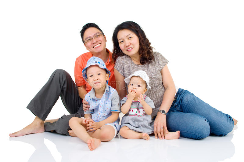 famille asiatique photo stock