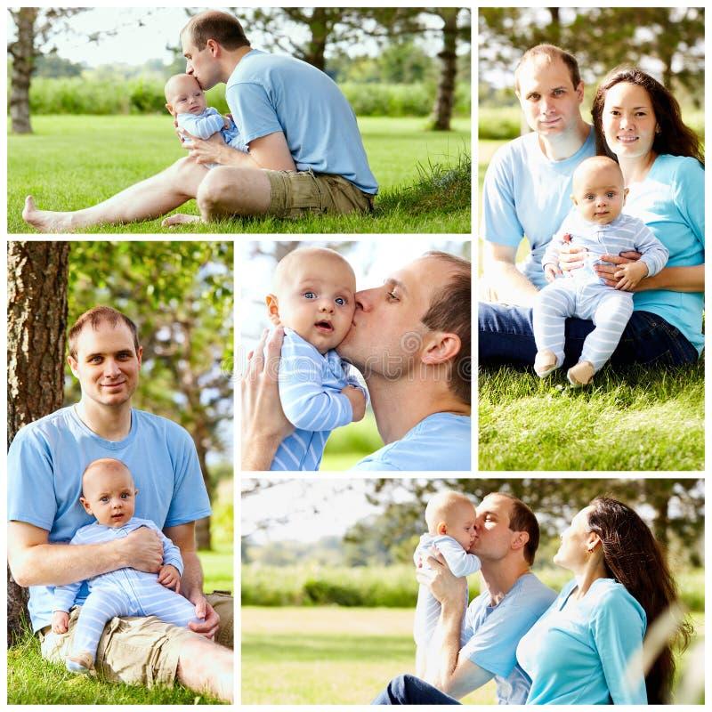 Famille avec la chéri images stock