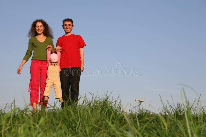 Famille avec la chéri photo stock