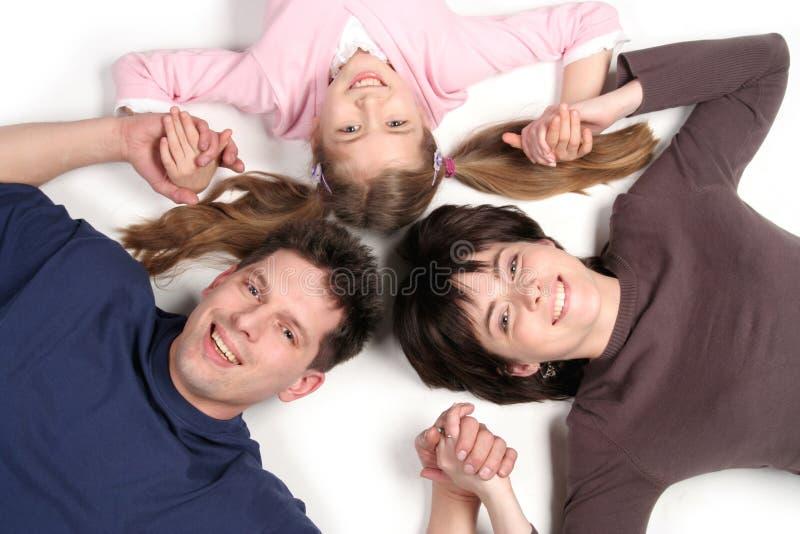 Famille avec le descendant image stock