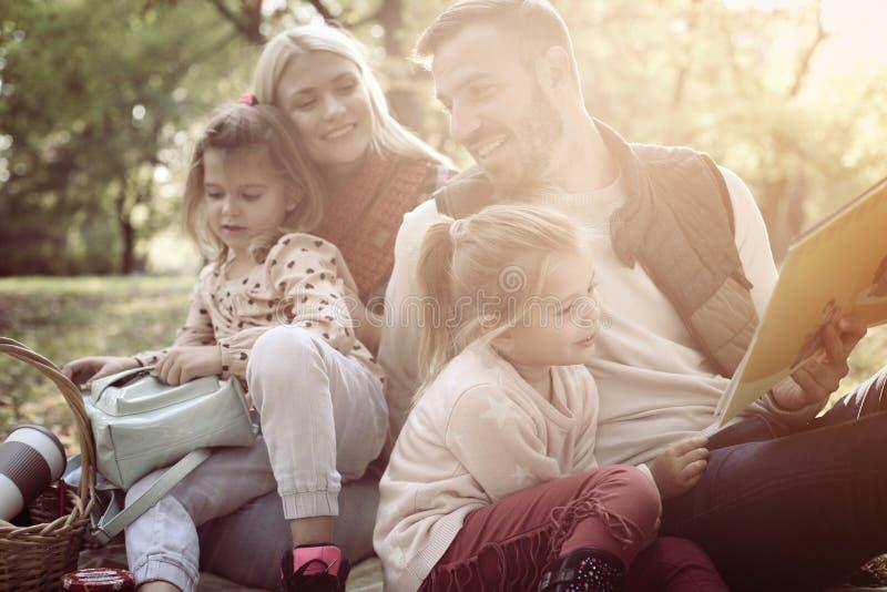 Famille ayant le pique-nique image libre de droits