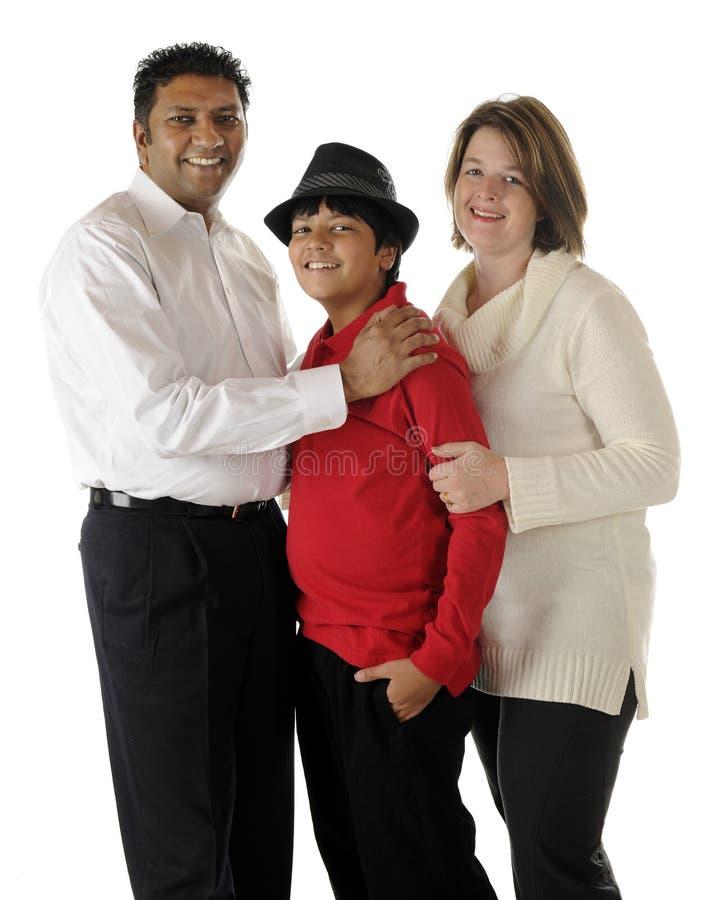 Famille Biracial image libre de droits